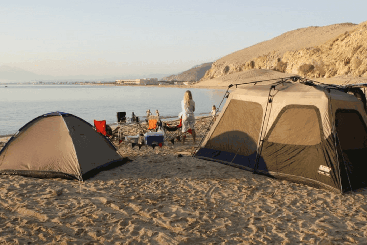 Beach Camping in Dubai