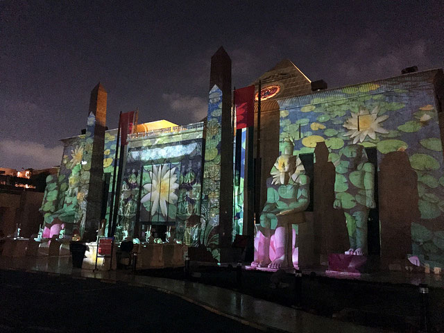 Light and sound show at Wafi Mall