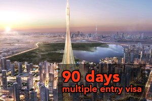 90 days Multiple Entry