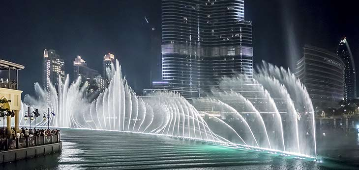 burj khlifa fountain